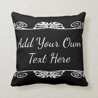 Citações inspiradores feitas sob encomenda pretas travesseiro
