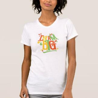 Citações inspiradores grandes ideais no t-shirt
