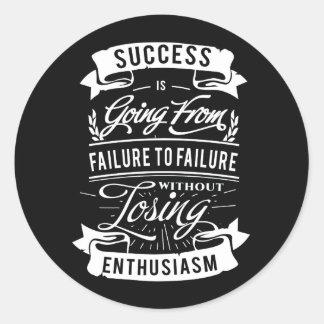 Citações inspiradores sobre o sucesso adesivo
