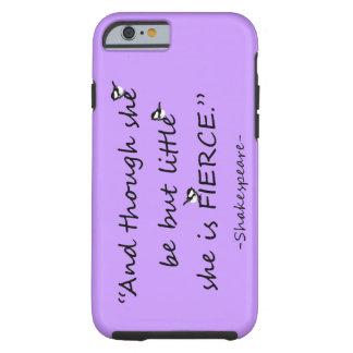 Citações pequenas mas ferozes da cor feita sob capa tough para iPhone 6