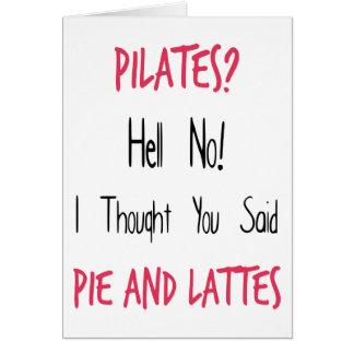 Citações, preto e rosa engraçados de Pilates Cartão Comemorativo