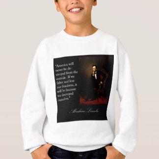 Citações & retrato de Abraham Lincoln Camiseta
