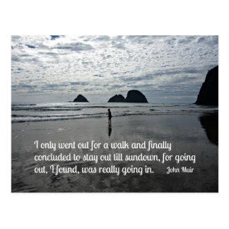 Cite por John Muir sobre ir para uma caminhada Cartão Postal