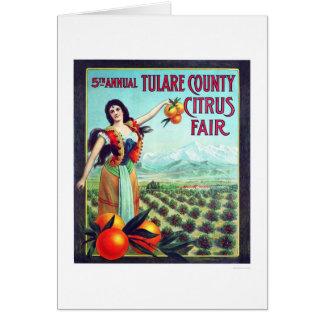 Citrino de Tulare County justo Cartão