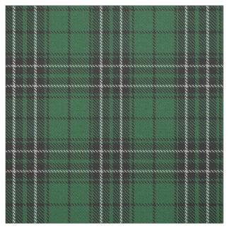 Clã MacLean que caça o Tartan escocês preto verde Tecido