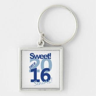 Classe da corrente 2016 chave chaveiro quadrado na cor prata
