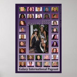 Classe da representação histórica da galáxia de 20 poster