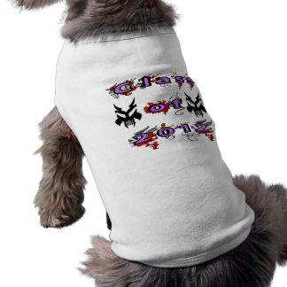 Classe de 2012 - crânios camisa sem mangas para cachorro