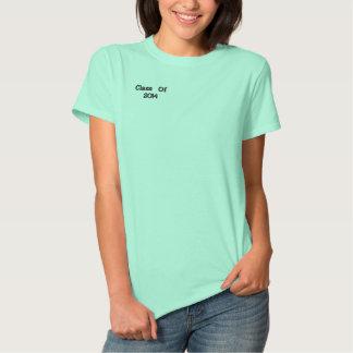 Classe de 2014 camiseta polo bordada feminina