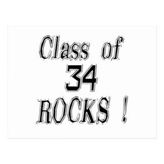 Classe 'de 34 rochas! Cartão Cartoes Postais
