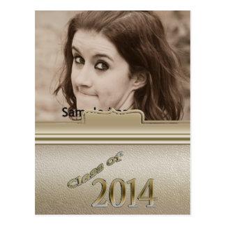 Classe de foto personalizada ouro 2014 da graduaçã