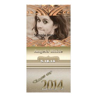 Classe de foto personalizada ouro 2014 da graduaçã cartões com fotos personalizados