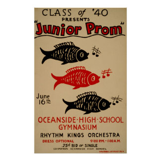 Classe de poster vintage júnior do baile de