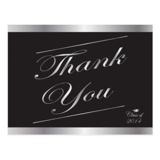 Classe de prata do obrigado 2014 da graduação você cartão postal