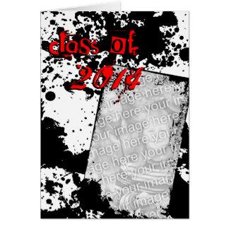 classe do formando do grunge de 2014 cartão comemorativo