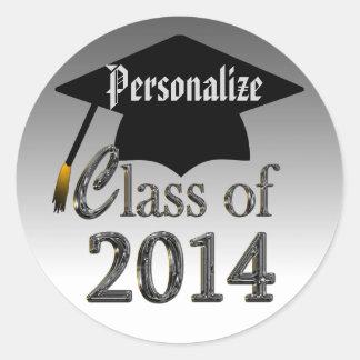 Classe dos selos 2014 das etiquetas da graduação adesivos