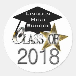 Classe dos selos 2018 da graduação adesivo