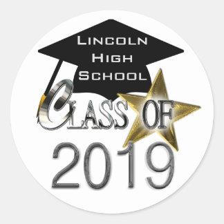 Classe dos selos 2019 da graduação adesivo