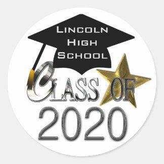 Classe dos selos 2020 da graduação adesivo