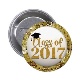 Classe dos Sequins do ouro do botão 2017 da Bóton Redondo 5.08cm