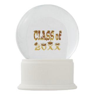 Classe dourada dos chapéus da graduação do globo