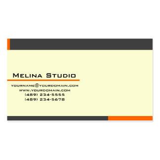 Classic Modern Orange and Gray Cartão De Visita