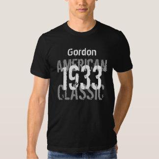 clássico americano do presente de aniversário 1933 camisetas