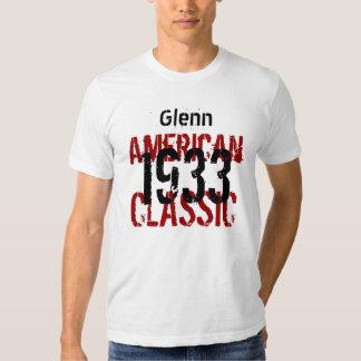 clássico americano do presente de aniversário 1933 t-shirt