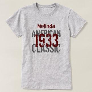 clássico americano do presente de aniversário 1933 t-shirts