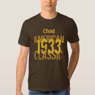 clássico americano do presente de aniversário 1933 tshirts