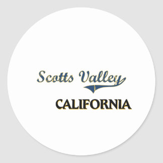 Clássico da cidade de Califórnia do vale de Scotts Adesivos Redondos