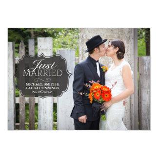 Clássico simples do anúncio do casamento vintage convite 12.7 x 17.78cm