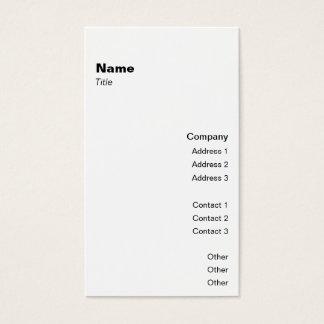 Clássico vertical 2 cartão de visitas