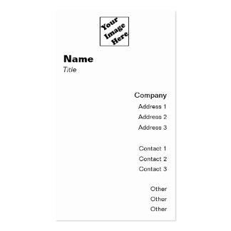 Clássico vertical 2 do logotipo cartão de visita