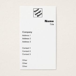 Clássico vertical do logotipo cartão de visitas