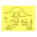 Classificação do dinossauro cartão postal