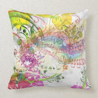 Classifique um design musical da flor do lance do almofada
