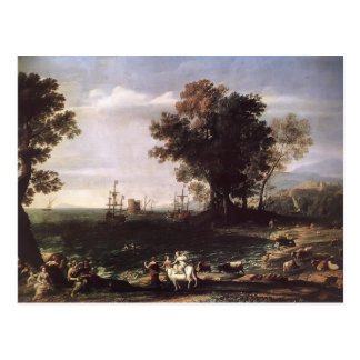 Claude Lorrain- a violação do Europa Cartoes Postais