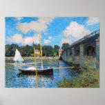 Claude Monet: A ponte em Argenteuil Impressão