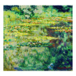 Claude Monet - DES Nympheas da água Lillies - do B Poster
