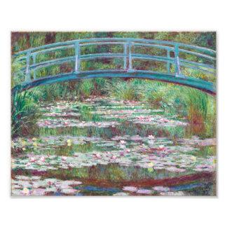 Claude Monet o passadiço japonês Fotografias