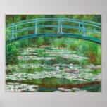 Claude Monet: Passadiço japonês Impressão