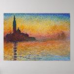Claude Monet - San Giorgio Maggiore no crepúsculo Posteres