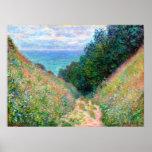Claude Monet: Trajeto no La Cavee Pourville Impressão
