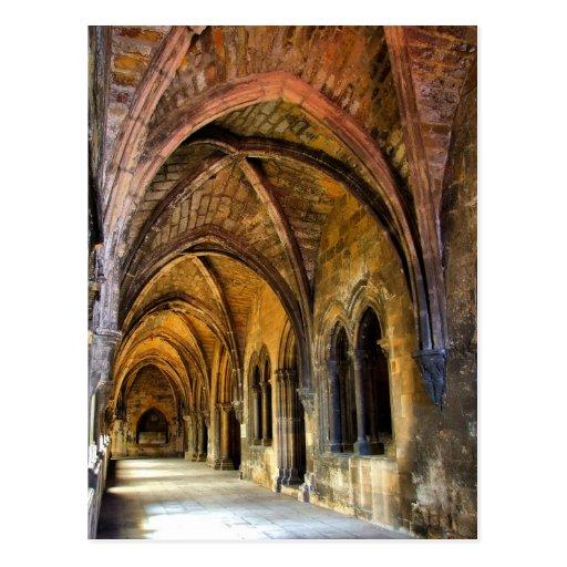 Claustro gótico da catedral de Lisboa Cartao Postal