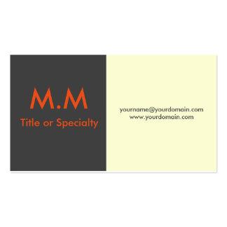 Clean and modern orange design cartão de visita