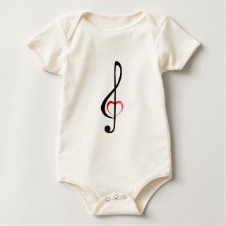 Clef do coração body para bebê