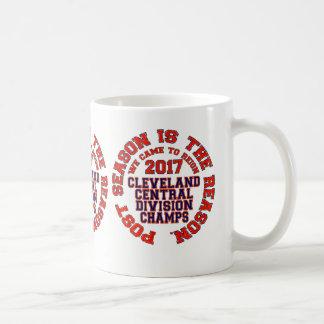 Cleveland 2017 campeões centrais da divisão caneca de café