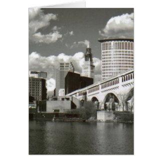 Cleveland Ohio preto e branco Cartão
