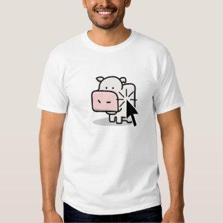Clicker da vaca camisetas
